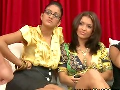 Amateur cfnm hotties watch loser