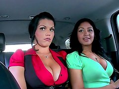 Angelina Castro and Lisa Lee are horny and eager to have their pussies stimulated