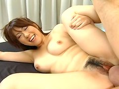 Whorish Japanese girl Yui Komiya is screaming furiously while fucking in AvIdolz porn movie