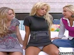 Attractive experienced blonde milf Tanya James with big fake hooters
