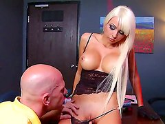 Johnny Sins and Rikki Six in amazing hardcore porn scene which pleases them