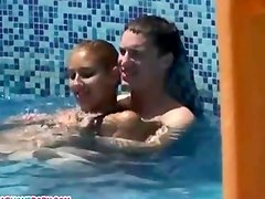 Public blowjob fun with two Russian couples