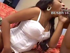 busty black girl fucks in living motel