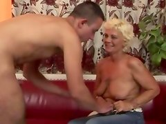 Old hairy granny pussylicked and fucked