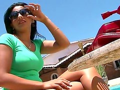 Superb Nayma loves having Tony Tigrao fucking her tight pussy and ass in outdoor scene