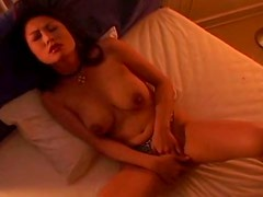 Spoiled wet vagina of Japanese milf Marie Sugimoto gets fucked with fingers