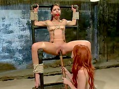 Elle Alexandra, Dirty ginger dominatrix punishes Mia Gold!