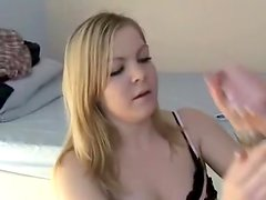 I record my lustful golden-haired girlfriend jerking off my 10-Pounder