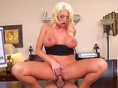 Hot ass blonde Summer Brielle gets rammed by her turned on coworker Xander Corvus in the office