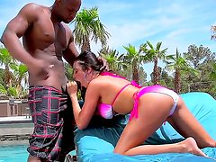 Ariella Ferrera receives long dick pounding her hard from hunk Prince Yashua