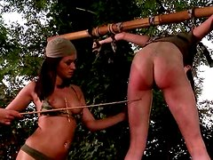 BDSM play in a deep jungle
