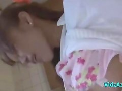 Asian Girl Fingered And Licked While Standing In The Kitchen