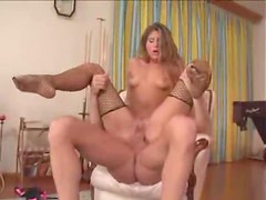 Stuffing big cock into Euro sweetheart
