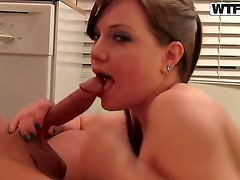 Amateur bitch named Brandy gets a nice cunnilingus and sucks a big cock