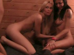 Fuckable Russian babes gets drilled hard during rapacious swinger party