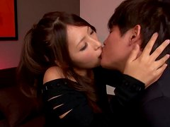 Risa Kotani moans loudly while getting her vag fingered and fucked