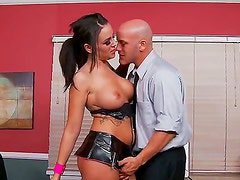 Hardcore and amazing scene with Derrick Pierce and Emily Parker in the office