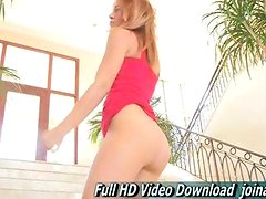 Anita Redhead Student Dress And Heels Sensual Dance