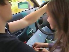 18yo european girl fucked on the car