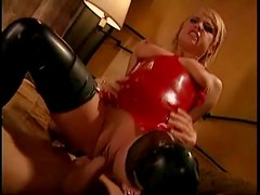 Kinky latex girl wants him in her pussy and ass