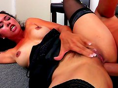 Asian babe Dana Vespoli being fucked by Keiran Lee