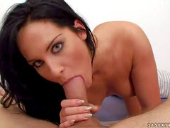 Bettina Dicapri is a beautiful long haired brunette babe with
