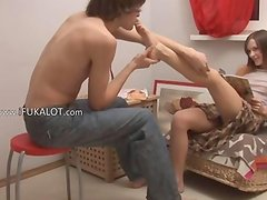 Ivanas suck toes and sex at home