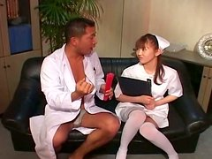 Sex nurse Mari Yamada and candle wax experience