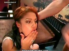 Busty euro whore goes crazy jerking