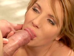 Teagan Presley gives blowjob and gets her anus  licked